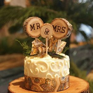 Chic Rustic Wedding Cake Topper