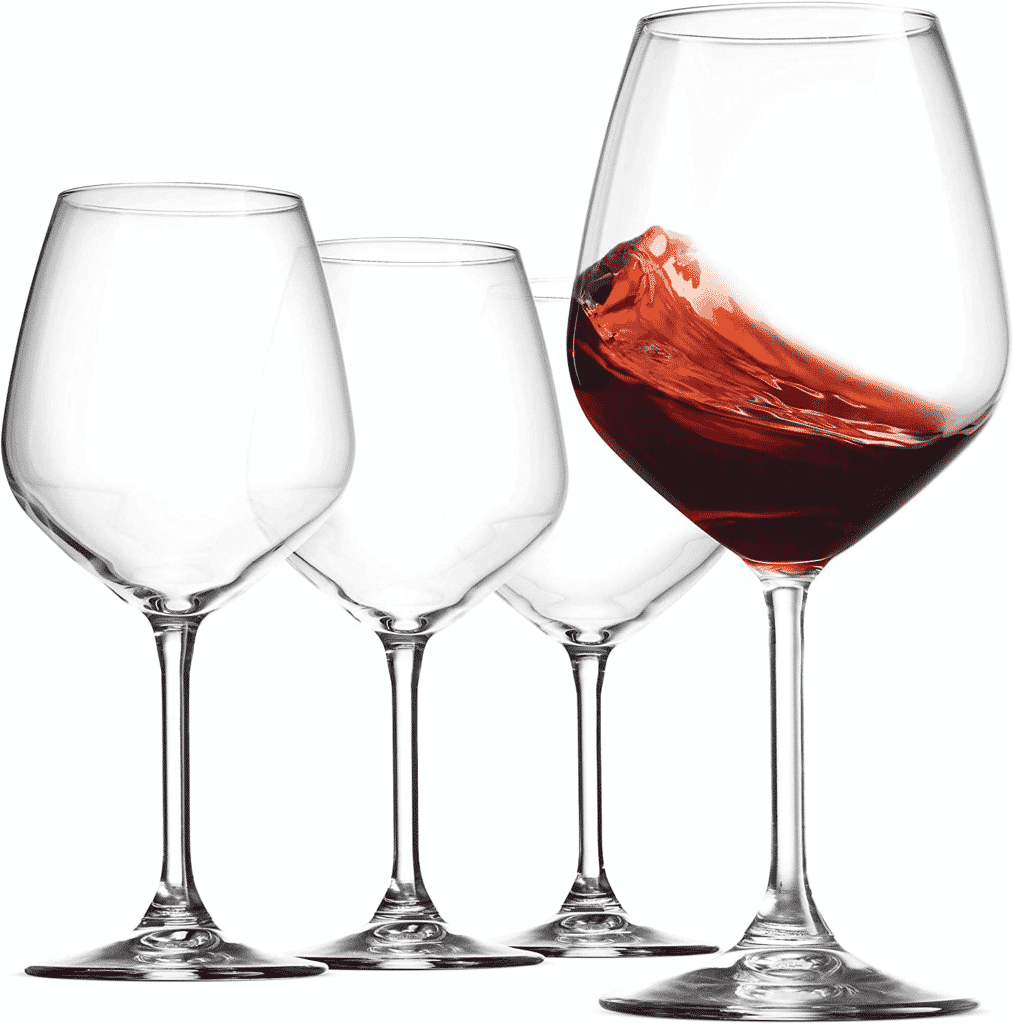 18-ounce Red Wine Glasses by Bormioli Rocco