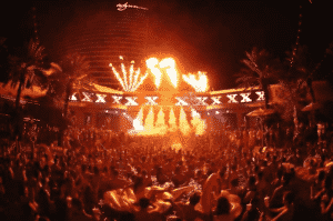 A massive crowd partying at XS Las Vegas.