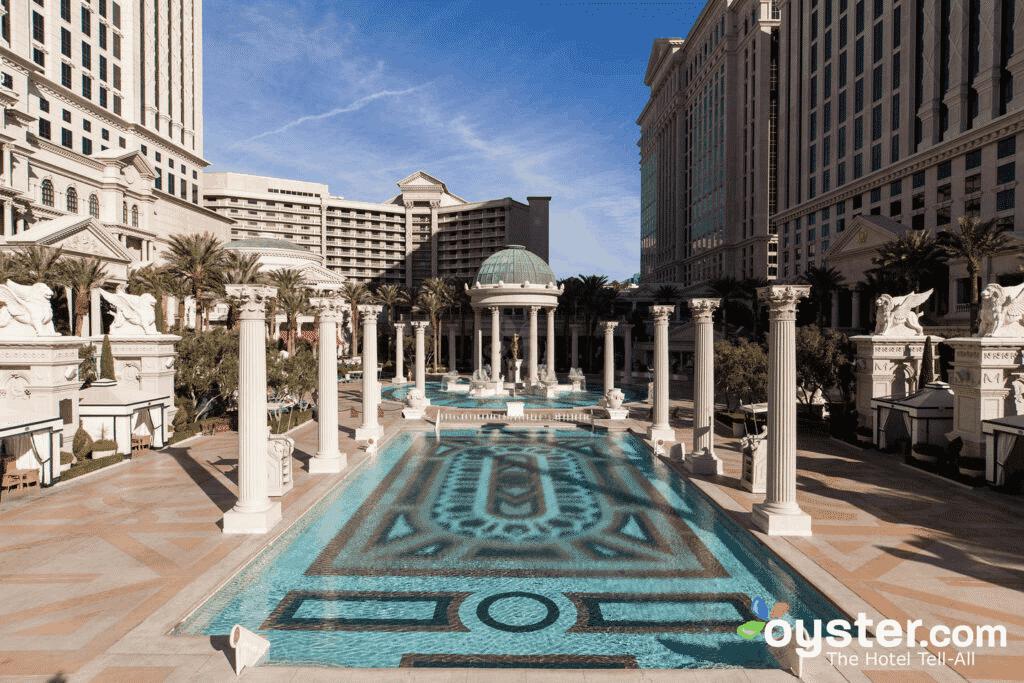 A pool at Caesars Palace in Las Vegas.