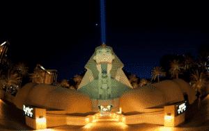 The Luxor Hotel & Casino in Las Vegas at night