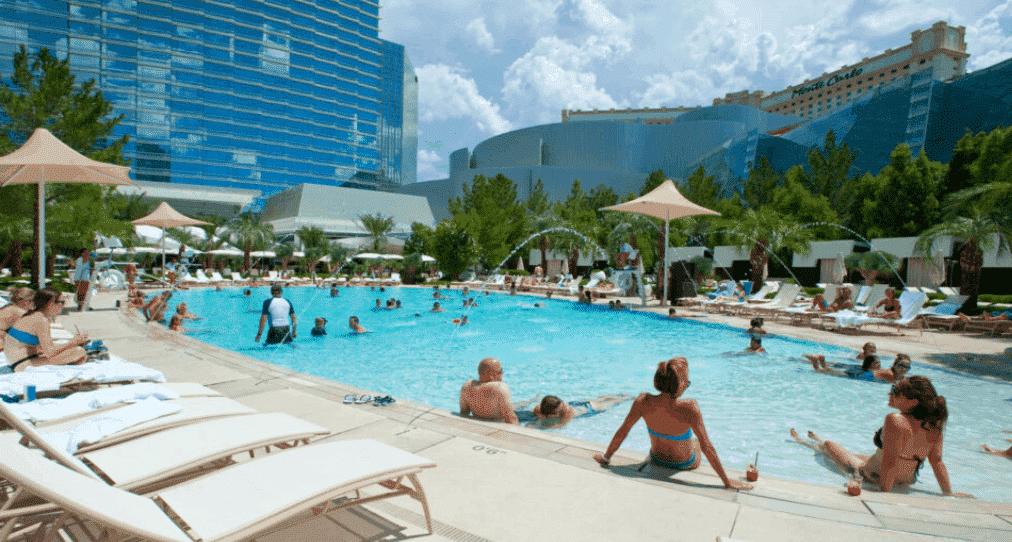 The pool at the ARIA Resort & Casino in Las Vegas